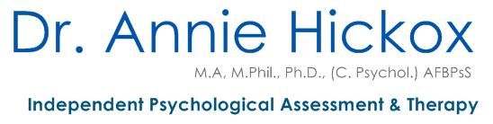 Dr Annie Hickox Psychologist | North Yorkshire